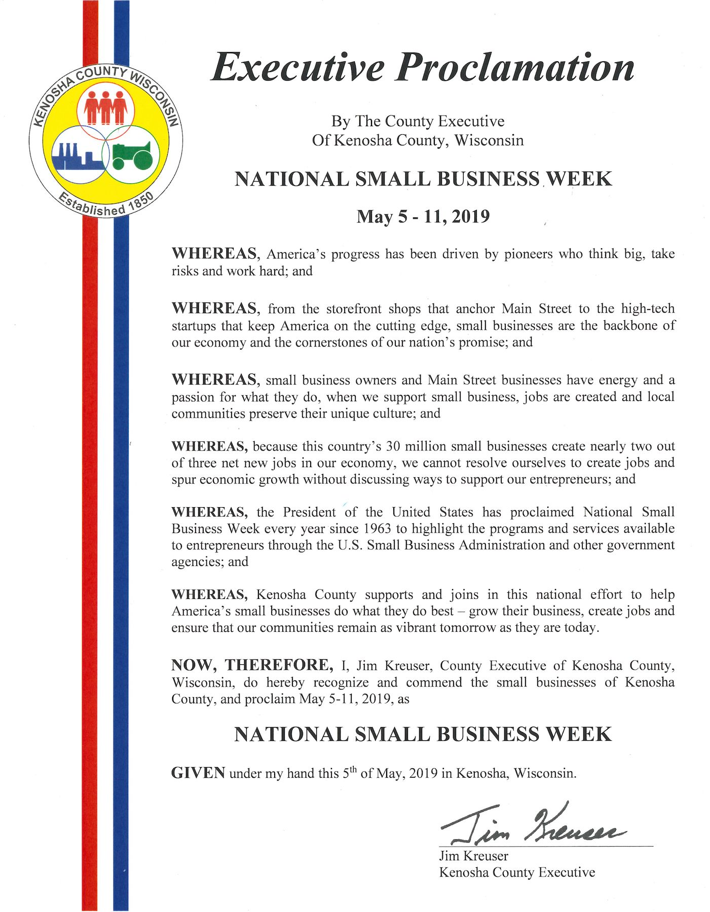 May 5-11 is National Small Business Week! – Kenosha Area